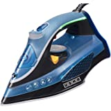 USHA Aqua Glow Smart Steam Iron 2000 W with Innovative LED Indicator On Handle, Durable Ceramic Soleplate, Powerful Steam Out