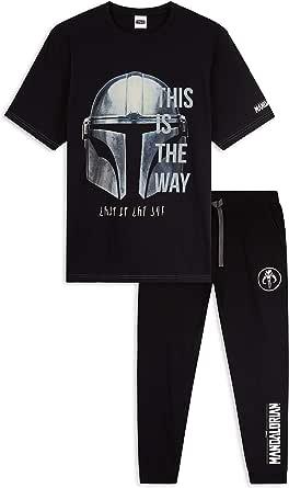 Disney Star Wars Mens Pyjamas Set, Baby Yoda Pyjamas for Men, The Mandalorian Nightwear