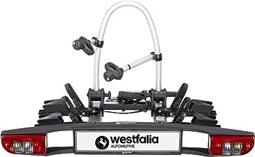 Westfalia Fahrradträger BC 60 für die Anhängerkupplung   zusammenklappbarer Kupplungsträger für 2 Fahrräder   E-Bike geeignet   60 kg Zuladung   erweiterbar mit diversem Zubehör   universal