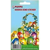 Metma 115 – Pegatinas para Huevos, diseño de Pascua, Multicolor
