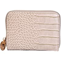 Lino Perros Womens Blue Synthetic Leather Wallet (BEIGE)