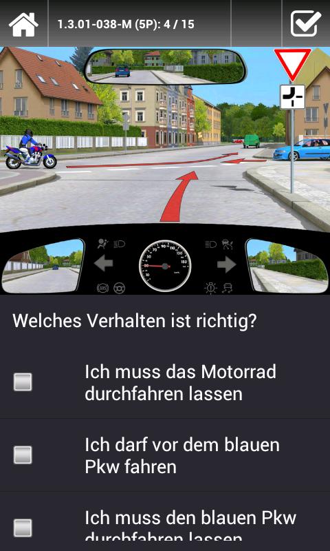 Welches verhalten ist jetzt richtig motorrad