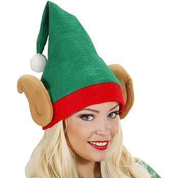 Concept4u Velluto cappello elfo natalizio con campanelle rosso e ... 46a32a8ec4e7