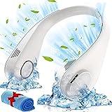 Ventilateur Portable, Ventilateur USB, Ventilateur cou Portable Rechargeable, Ventilateur Silencieux sans Feuilles Réglable à