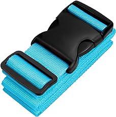 Pushingbest Koffergurt,Kofferband Gepäckgurt Premium 4 Farbe verstellbar der Koffer