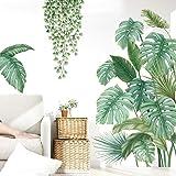 Pegatinas de Pared Planta Tropicales,Pegatinas de Pared Hoja de Banana,Planta Tropical Hoja de Tortuga Etiqueta de La pared,p