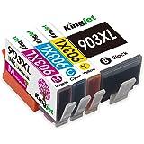 Kingjet 903XL, cartucce di ricambio per HP 903 XL, compatibili con HP Officejet Pro 6950 6960 6970 (1 nero, 1 ciano, 1 magent