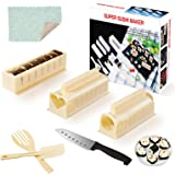 Sushi Maker Kit - SKYSER 12 Pièces Kit Sushi Complet Plastique Kit Sushi Maki Kit de Préparation à Sushi Moules à Sushi avec