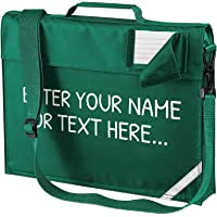 Personalised Kids Junior Custom Book Bag with Shoulder Strap - Create Your Own - Any Name / Any Text Boys & Girls School…