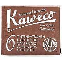 1 x Kaweco 6 cartucce inchiostro seppia Marron di stilografica Ka cart01 7015sepia