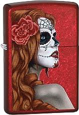 "Zippo ""Day of The Dead Girl Winddicht Feuerzeug–Candy Apple Red"