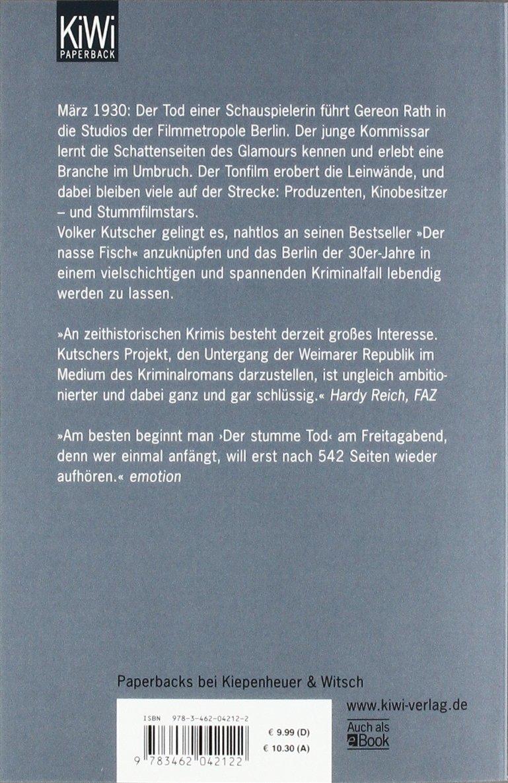 Der stumme Tod: Gereon Raths zweiter Fall (Die Gereon-Rath-Romane, Band 2)