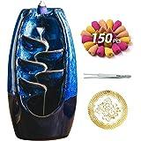 Bruciatore di incenso in ceramica con 150 coni, porta incenso con riflusso a cascata, ornamento per aromaterapia, arredamento