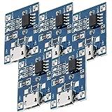 AZDelivery 5 x TP4056 Micro USB 5V 1A laadregelaar Lithium Li - Ionenbatterijlader module Inclusief E-Book!