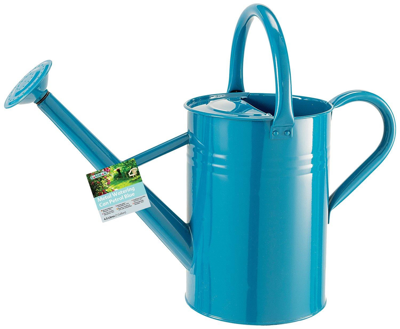 gardman 45 litre metal watering can amazoncouk garden outdoors