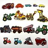 17 Piezas Parches Termoadhesivos Infantiles Decorativos Ropa Excavador Parches para Chaquetas Sombrero Ropa Bolsas Decoración
