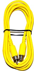 MA RCA Extension Cable, RCA Male To Female Audio Extender Cable Male to Female Connector Jack Plug Extend Video Audio Wire - Yellow (2 Mtr.)