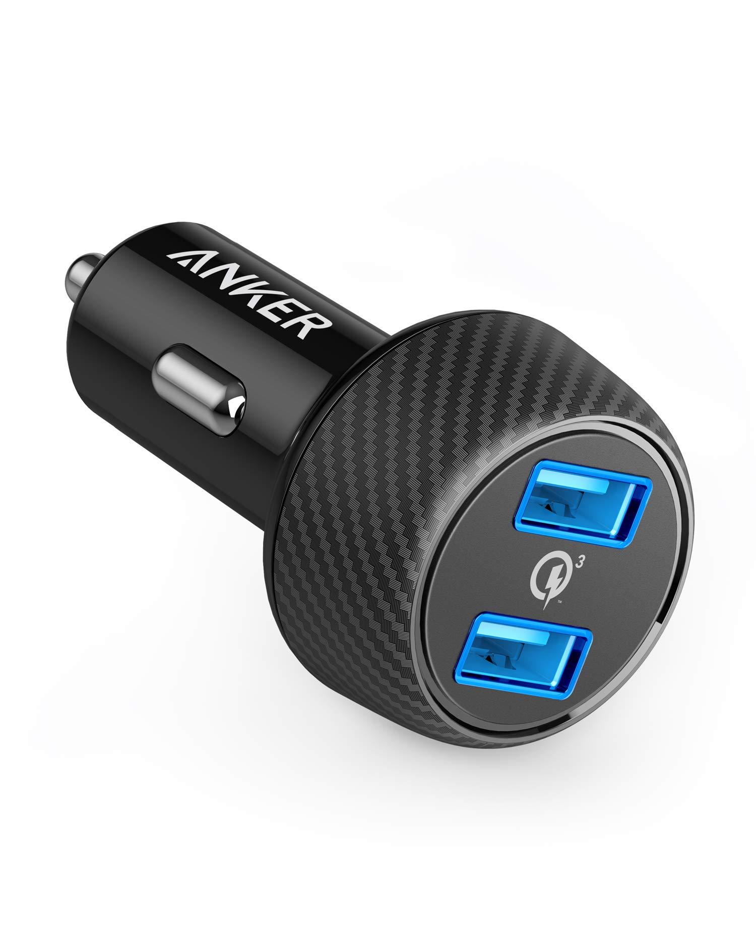 Anker-PowerDrive-Speed-2-39W-Auto-Ladegert-2-Port-Kfz-Ladegert-mit-Quick-Charge-30-und-PowerIQ-fr-Samsung-GalaxyNote-S9-iPhone-iPad-HTC-LG-Smartphones-Tablets-Powerbank-und-mehr