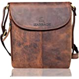 Leaderachi Hunter Leather Cross Body Sling Bag [Cantazaro-Muskat]