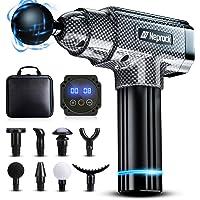 Pistolet de Massage Musculaire,Appareil de Massage Pistolet 8 Tête de Massage et Affichage LED , Massage Gun Masseur de…