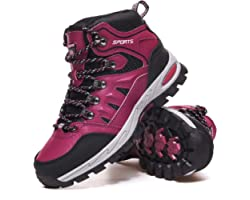 Mens Womens Walking Boots Lightweight Hiking Boots Outdoor Breathable Trekking Mountain Shoes