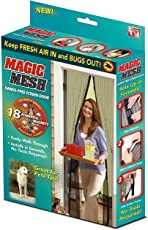 Marji&Anuvrutti Magic Mesh Hands Free Magnetic Screen Door: Doors Premium Quality Tough & Durable Qty.(1pc), Color- Beige Size 210 x 100 cm