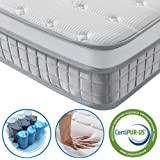 Vesgantti 3FT Single Mattress, 9.6 Inch Pocket Sprung Mattress Single with Breathable Foam and Individually Wrapped…
