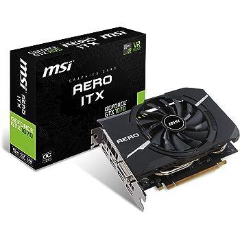MSI GeForce GTX 1070 Aero ITX 8G OC GeForce GTX 1070 8Go GDDR5 - Cartes Graphiques (NVIDIA, GeForce GTX 1070, 1531 MHz, 2-Way SLI, 1721 MHz, 8 Go)