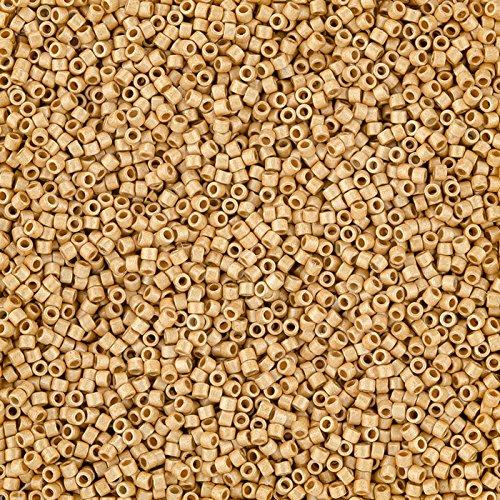 Miyuki Delica Perlen Duracoat verzinktem matt gold 7,2g