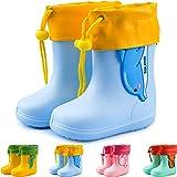 Botas de Agua Unisex para niños Botas de Lluvia de Dibujos Animados Zapatos Antideslizantes de Goma EVA Botas de Lluvia para