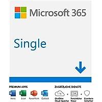 Microsoft 365 Single | 1 Nutzer | Mehrere PCs/Macs, Tablets und mobile Geräte | 1 Jahresabonnement | Download Code