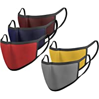 Scott International Mouth Nose Cover Anti-Pollution Anti-Dust Reusable 2 Ply Fabric Mask – Pack of 5 (Assorted Colours)