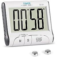Timer Cucina  YXwin Magnetico Digitale Elettronico 24 Ore Timer da Cucina con Display LCD e Allarme Forte Conto Alla Rovescia e Cronometro Stand Retrattile