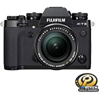 """Fujifilm X-T3 26.1 MP Mirrorless Camera with XF 18-55 mm Lens (APS-C X-Trans CMOS 4 Sensor, X-Processor 4, EVF, 3"""" Tilt Touchscreen, Fast & Accurate AF, Face/Eye AF, 4K/60P Video) - Black"""