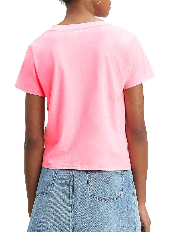 Camiseta Levis Graphic Surf Rosa Mujer