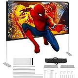 Powerextra HD 16: 9 100 cali ekran projekcyjny ze stojakiem – kompaktowa torba składana na ścianę do kina domowego, na kempin