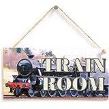 Train Room Sign - Model Steam Train Wooden Plaque