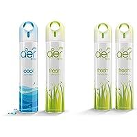 Godrej aer spray, Air Freshener - Cool Surf Blue & Fresh Lush Green (Pack of 2, 240 ml each) and Godrej aer spray, Air…