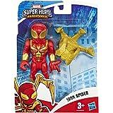 Hasbro Playskool- Marvel Super Hero Adventures-Iron Spider Mega Mighties Avengers Mini Figurina, Multicolore, 12.5 cm, E6259E