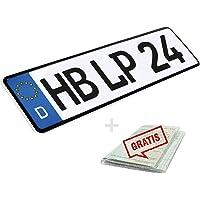 L & P Car Design KFZ Kennzeichen 1 Stück 52cm x 11cm Nummernschild 520mm x 110mm Wunschkennzeichen DIN Autokennzeichen…