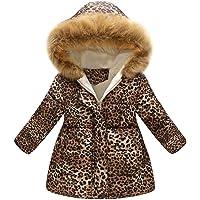 Cappotto con Cappuccio per Ragazze Ragazzi Bambini Giacca Manica Lunga Invernale Capispalla Imbottito Caldo Leopardato…