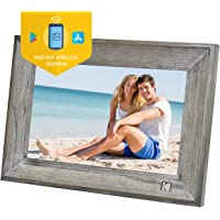 KODAK Classic Digital Photo Frame Wood 1013W, 10 inch Touch Screen Electronic Picture Frame Wi-Fi Enabled, Cloud Storage…
