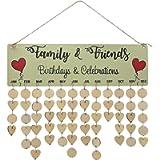 Wooden Calendar Listing, Birthday Reminder Party Home Wall Decoration Pendant Creative Handmade Calendar Crafts Hanging…