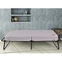 Springtek Dreamer Folding Bed Metal Single Bed (Finish Color - Black)