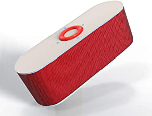 Boltt Fuel Portable Multi Function Wireless Bluetooth Speaker with Great Power Output, Enhanced Bass & Free Subscription of The Boltt Fitness App (Red)