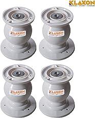 Klaxon Plastic Magnetic Door Catcher (Off-White, Set of 4)