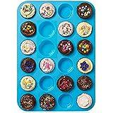 Moule à Muffin Silicone pour 24 Muffins Pâtisserie Anti-adhésif, Cupcakes, Brownies, Gateaux