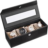 Ecoleatherette Luxury Watch Box - Display Case & Organizer, Handcrafted Cardboard and Velvet Watch Box Watch Holder with…