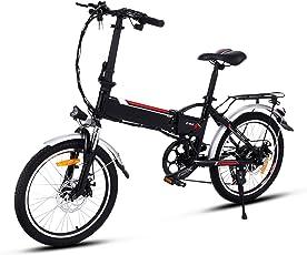 Edited E-Bike Professionelles Elektrofahrrad Mountainbike 20 Zoll Elektrofahrrad / 26 Zoll Elektrofahrrad Rad Aluminium Radfahren Fahrrad mit LED-Anzeige Schwarz