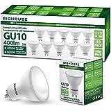 Lampadine LED GU10, 5Watt Pari ad alogene da 40Watt, 400lm, Luce Bianca Calda 3000K, Angolo del Fascio di 120 Gradi, Confezio
